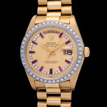 Rolex Day Date With Diamond & Rubies Index Dial