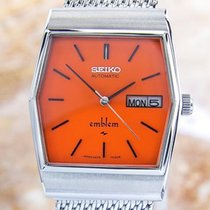 Seiko Emblem 2409 Vintage Stainless Steel Automatic Mens Watch...