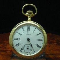 Elgin National Watch Co. Gold Mantel Open Face Taschenuhr Von...