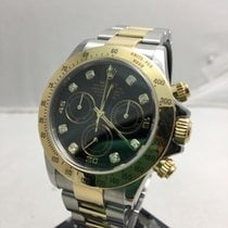 Rolex Daytona Stainless Steel/Yellow Gold Diamond Dial