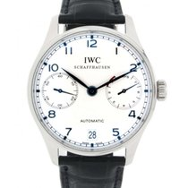 IWC Portoghese Iw500107 In Steel And Leather, 42mm