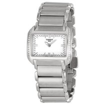 Tissot T-Wave White Dial Stainless Steel Ladies Watch T023.309...