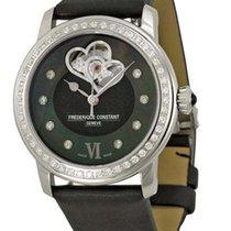 Frederique Constant Heartbeat Stainless Steel Diamonds Textil...