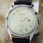 Oris Swiss Made Vintage Dress Watch With Date Circa 1950s (d50)