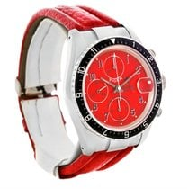 Tudor Tiger Woods Chronograph Steel Red Leather Strap Watch 79270