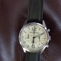 Bell & Ross BR126 Beige Vintage Chronograph Brown Leather...