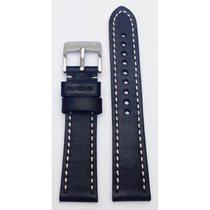 Glycine Lederband schwarz 22mm LB9B