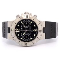 Bulgari Scuba Scb38s Steel Chronograph On Rubber