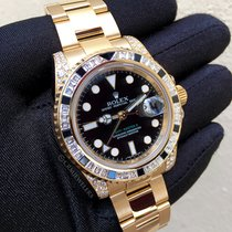 Rolex GMT-Master II Yellow Gold Diamonds and Sapphires