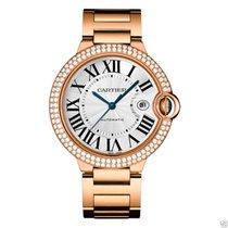 Cartier Ballon Bleu 42mm we9008z3 18kt Rose Gold Diamond Bezel