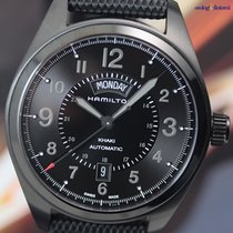Hamilton Men's Khaki Field Automatic Day Date PVD / Black...
