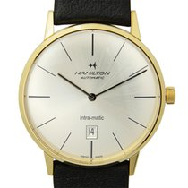 Hamilton American Classic Gold-plated Stainless Steel Silver...