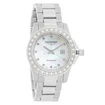 Longines Conquest Ladies Diamond Bezel Quartz Watch L3.258.0.89.6