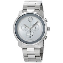 Movado Bold Silver Dial Stainless Steel Men's Watch 3600276