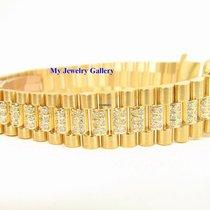 Rolex Aftermarket 18k YG Diamond Bracelet Band for Ladie...