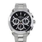 Alpina Manufacture 4 Flyback Chronograph Black Dial Stainless...