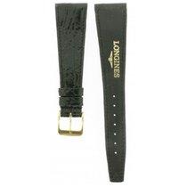 Longines -black Polished Crocodile Leather Strap