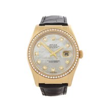 Rolex Datejust Mother of Pearl Diamonds 18k Yellow Gold Unisex...