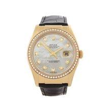 Rolex Datejust 18k Yellow Gold Unisex 116188