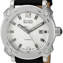 Bulova Accu-Swiss Percheron Automatic Steel Mens Strap Watch...