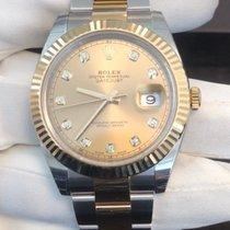 Rolex Datejust II 41 Sundust Diamond Dial