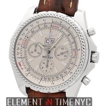 Breitling Bentley 6.75 Stainless Steel Chronograph Silver Dial...