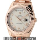 Rolex Day-Date II President 18k Rose Gold Ivory Roman Dial...