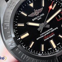 Breitling Avenger Blackbird 44 Black Titanium Case on Military...