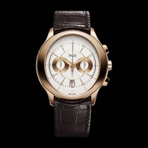 Piaget [NEW] Gouverneur Automatic Silver Dial Brown Leather
