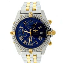 Breitling Crosswind 2-Tone Gold/Steel Blue Roman Dial Watch...
