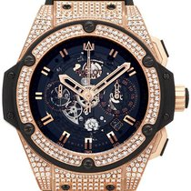 Hublot King Power Unico King Gold Diamond Pavé