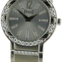 Piaget Polo 18k White Gold Watch W/ Diamonds