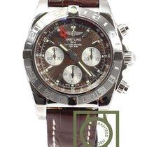 Breitling Chronomat 44 GMT Chronograph Brown Dial Crocodile...