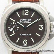Panerai Luminor Marina Titanio Brown Dial Pam 061 Box &...