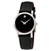 Movado Red Label Automatic Black Dial Ladies Watch 0607009