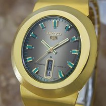 Seiko 5 Vintage Automatic 21 Jewels Gold Plated 1970s Mens...