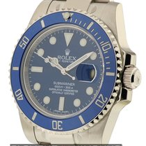 Rolex Submariner 18k White Gold Ceramic Blue Dial Ref. 116619