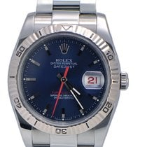 Rolex DateJust Turn-O-Graph Stainless Steel Blue Face D