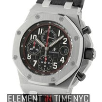 Audemars Piguet Royal Oak Offshore Stainless Steel Black Dial...