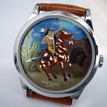 Patek Philippe Calatrava Platinum - Indian on Horse - 5077P-058
