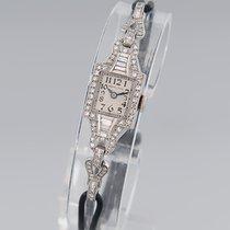 Hamilton Armbanduhr Antik Art Deco Diam.-Bes.Platin/Iridium