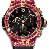 Hublot Big Bang Gold Linen Pink Gold Watch