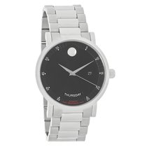Movado Red Label Mens Black Day/Date Dial Swiss Automatic...