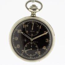Alpina Chronograph Vintage Pocket Watch Cal. 19/9 Minerva WWII...