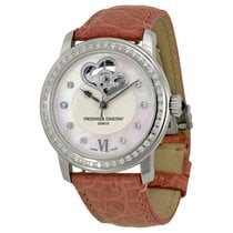 Frederique Constant White Guilloche Mother of Pearl Leather...