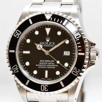롤렉스 (Rolex) Rolex Sea Dweller Stahl Uhr 16600 von 2002 Papiere...