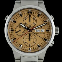 IWC S/S Salmon Dial Rattrapante Chronograph Gents IW371513