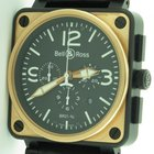 Bell & Ross Br01-94 18k Rose Gold & Carbon Chronograph...