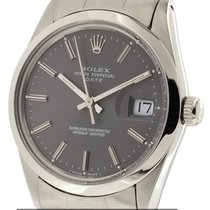 Rolex Oyster Perpetual Date 34mm Grey Stick Dial Ref. 15000