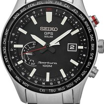 Seiko Sportura GPS Solar World Time SSF003J1 GPS Solar Uhr Mit...